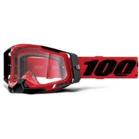 100% Racecraft Anti-Fog Goggles Gen2, red/clear
